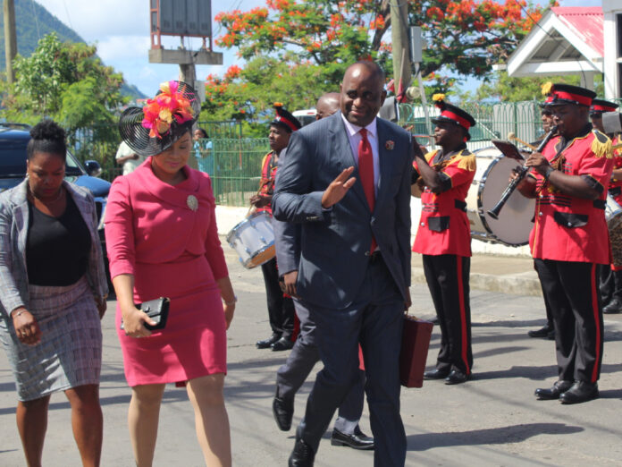 PM Skerrit and Wife on way to Parliament 2019