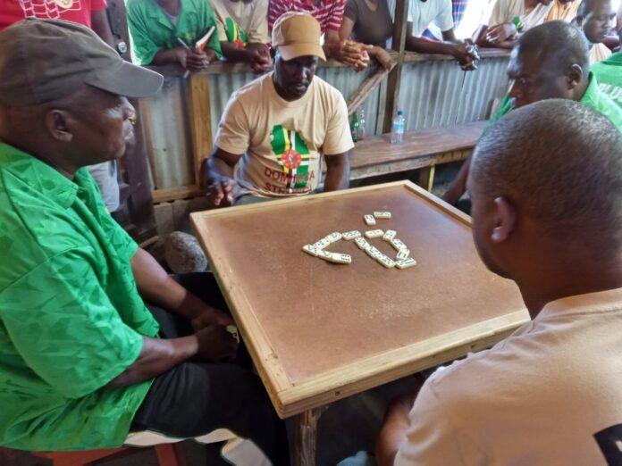 Teams Playing Dominoes