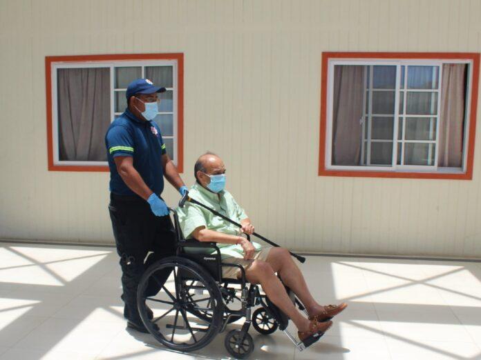 Mehul Choksi being wheelchaired