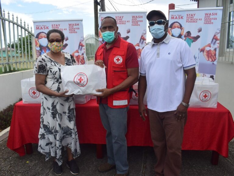 The Dominica Red Cross Donates Health & Safety Starter Kits to Centenarians