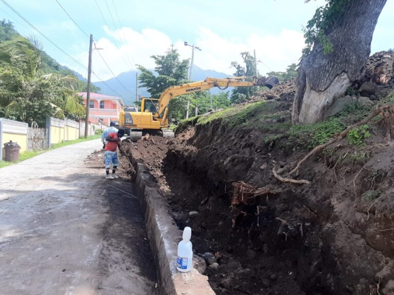 Retaining wall for Poree Playing Field